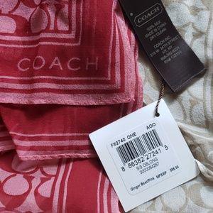Coach Accessories - Set of 2 Silk Coach scarfs
